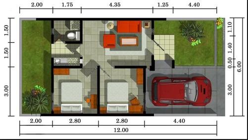 600 Gambar Desain Rumah Dengan 3 Kamar Dan Garasi Terbaik Download