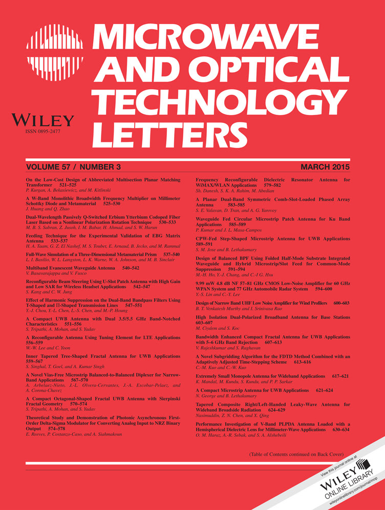 Microwave and Optical Technology Letters