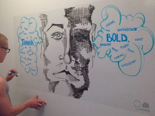 Think Board Turns Any Surface into a Dry-Erase Surface - GetdatGadget