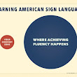 Learning ASL. A venn diagram poster.