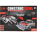2 in 1 Constructechs DIY Remote Control Vehicles Space Racer or A Sports Jeep, Red