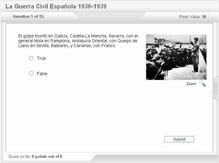 guerra civil cuestionario
