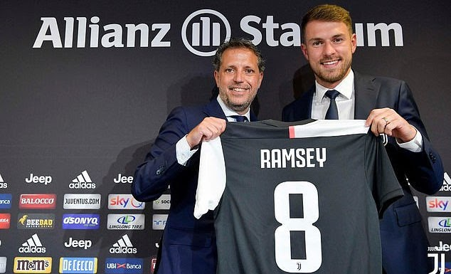 Aaron Ramsey Finally Unveiled As A Juventus Player And Will Earn £440,000 A Week (Photo)