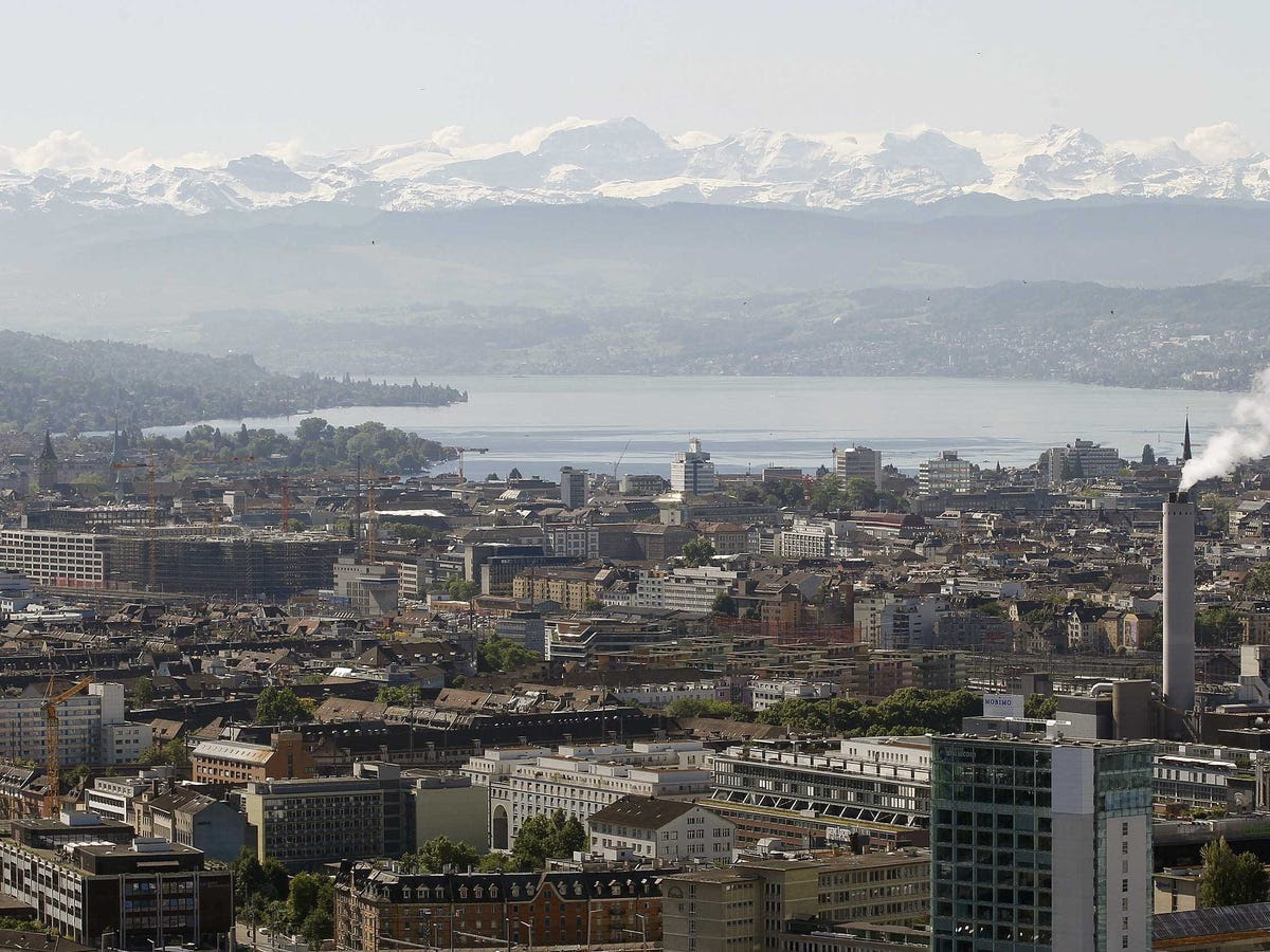 6.) ZURICH makes the grade as the second highest-ranked European city on the list.