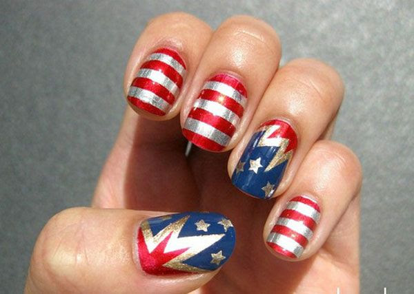 12 of My Favorite Patriotic Nail Art Designs for the 4th of July
