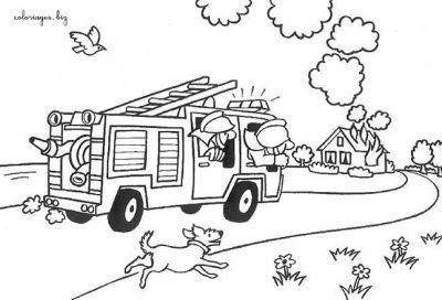 Coloriages Pompiers Page 1 M Tiers Dessin D Un Camion De Pompier