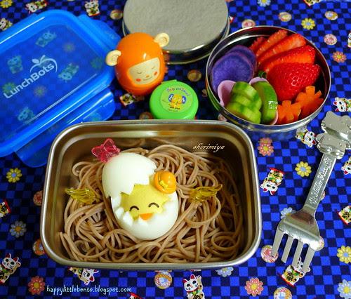 Easter Chick Soba Bento by sherimiya ♥