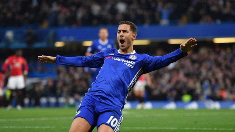 Hazard has scored 10 goals this season for Chelsea