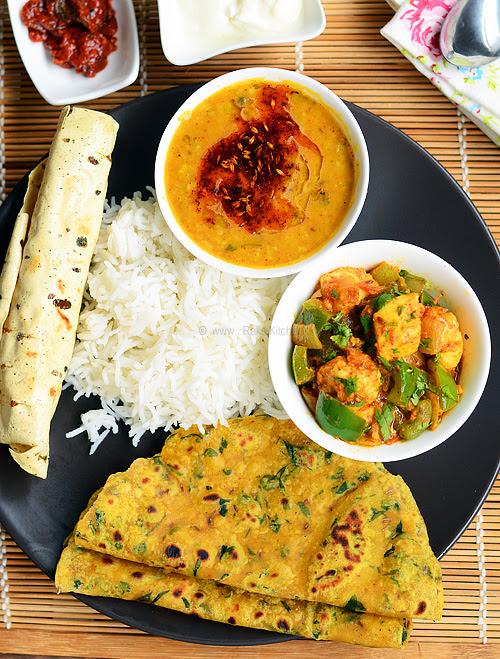 Lunch menu 25 - North Indian lunch recipes - Raks Kitchen