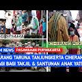 Berkah Ramadhan, Pemuda Karang Taruna di Desa Ciherang Bagi-bagi Takjil dan Santunan Anak Yatim