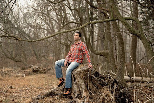 Donald Trump Jr., shown at his father's estate in Bedford, N.Y., last month, has become a defender of the family name. GEORGE ETHEREDGE FOR THE NEW YORK TIMES