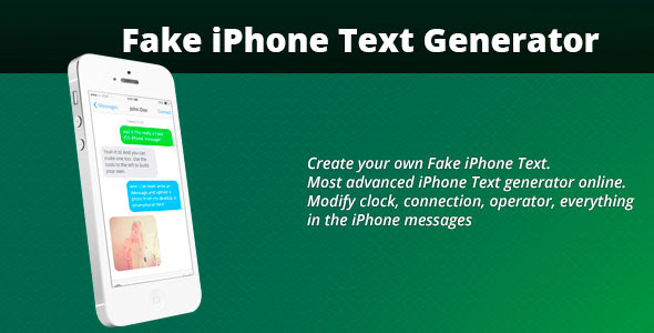 Fake iPhone Text Generator