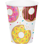 Party Creations Cups, Donut Time, 9 Ounce - 8 cups