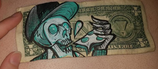 19 - cool drawing on a 1 dollar bill
