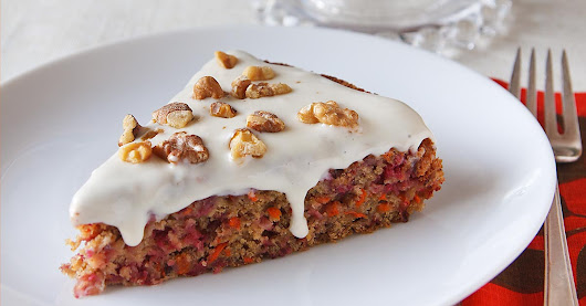 Cranberry-Carrot Cake from Vegan Holiday Kitchen | Recipe from FatFree Vegan Kitchen
