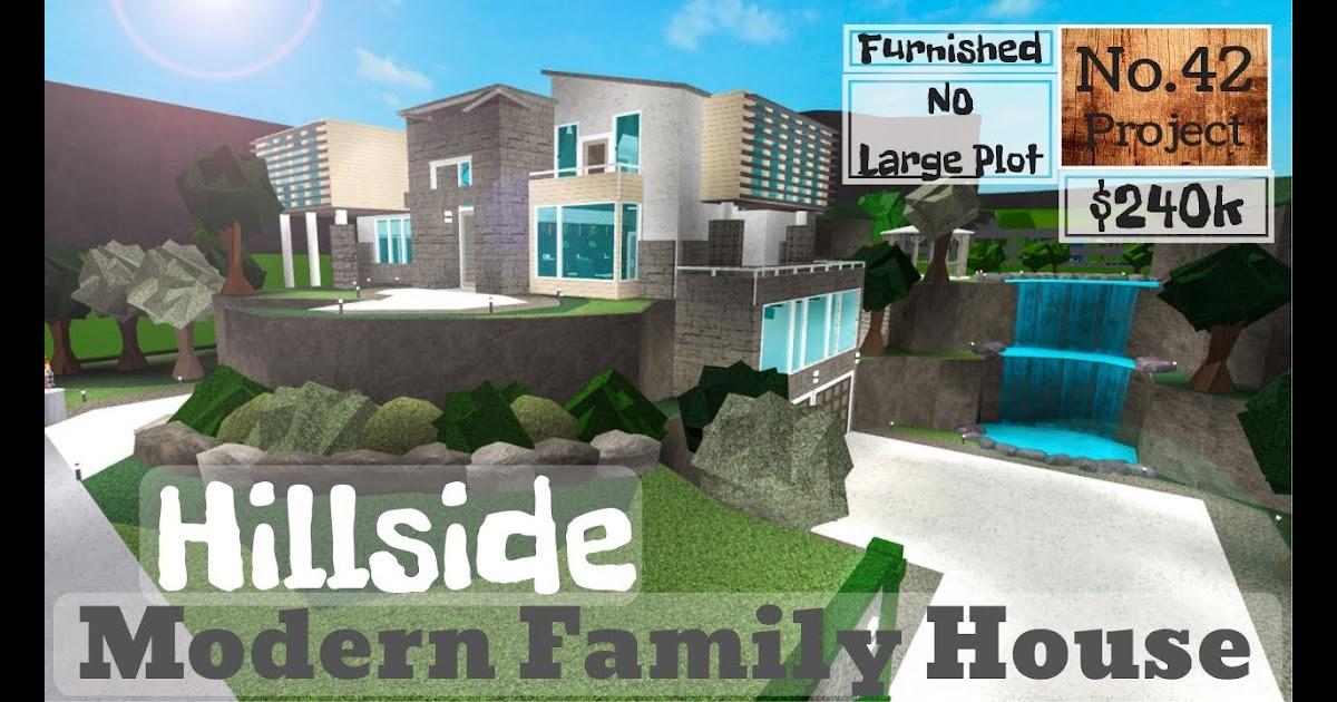 Roblox Bloxburg Hillside Modern Family House Speedbuild No Large