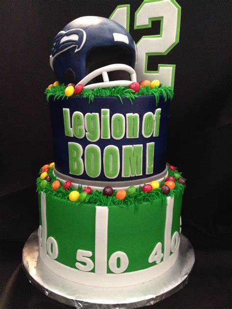 Legion of Boom! Seahawks inspired cake for Super Bowl 48
