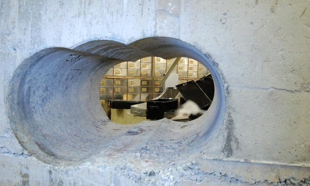 Hatton Garden burglary images.