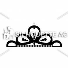 ティアラシルエット イラストの無料ダウンロードサイトシルエットac