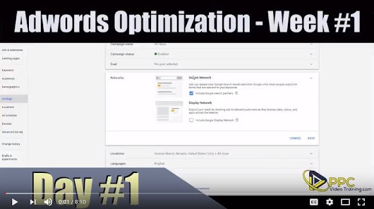 Adwords Optimization – Day #1