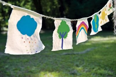 Inspired by Tibetan prayer flags, these playful garlands will bring cheer to your garden.