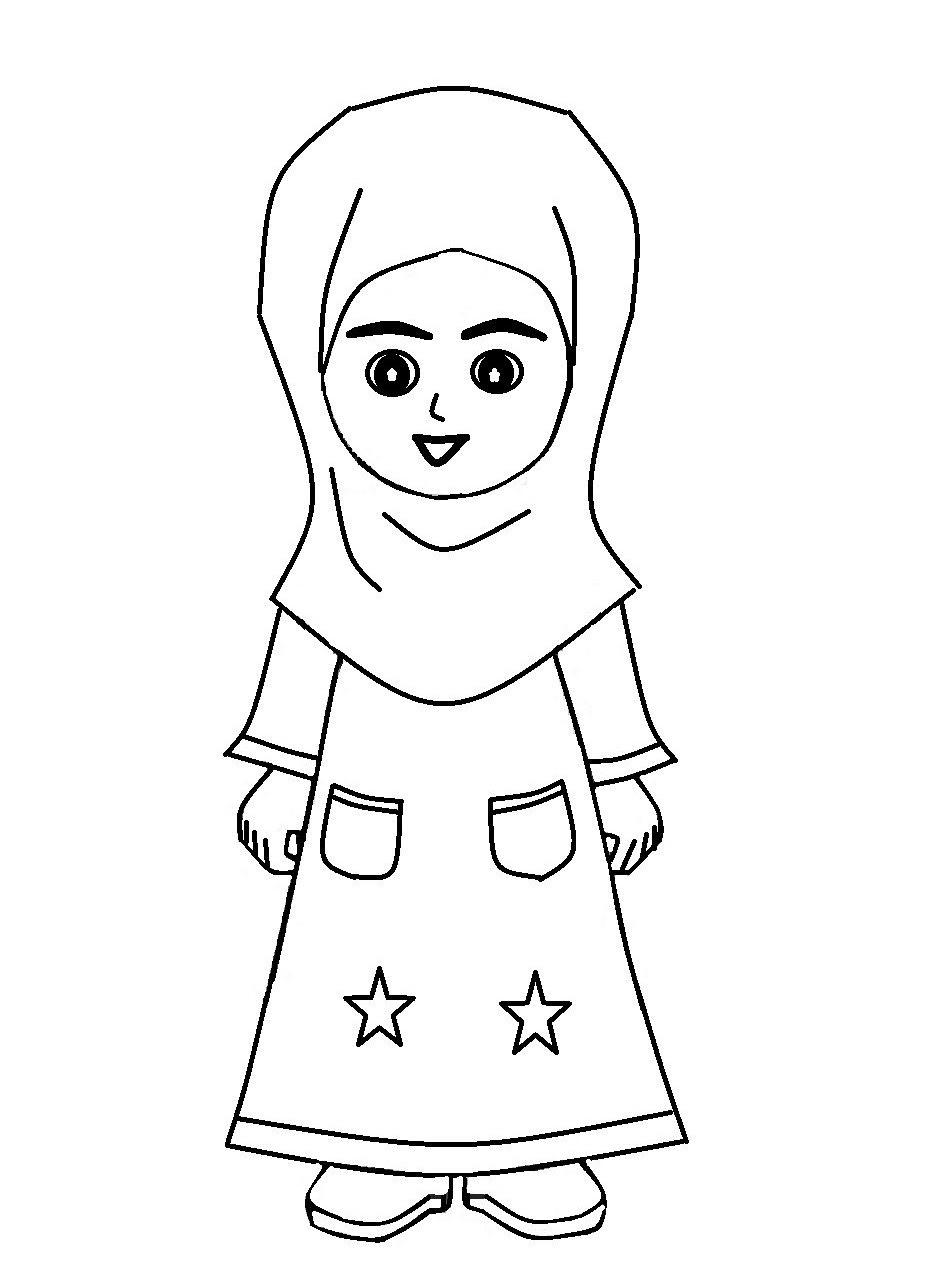 Gambar Kartun Anak Perempuan Berjilbab Top Gambar