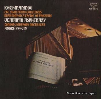 ASHKENAZY, VLADIMIR rachmaninov; complete piano concertos