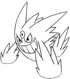 Pokemon Coloring Pages Gengar At Getdrawingscom Free For Personal