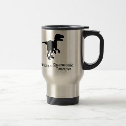 velociraptor funny science travel mug