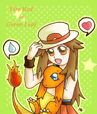 Pokemon: Fire Red n Leaf Green by ButterLux on DeviantArt