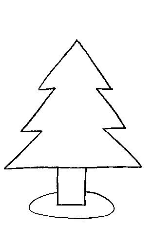 kleurplaat kerstboom leeg