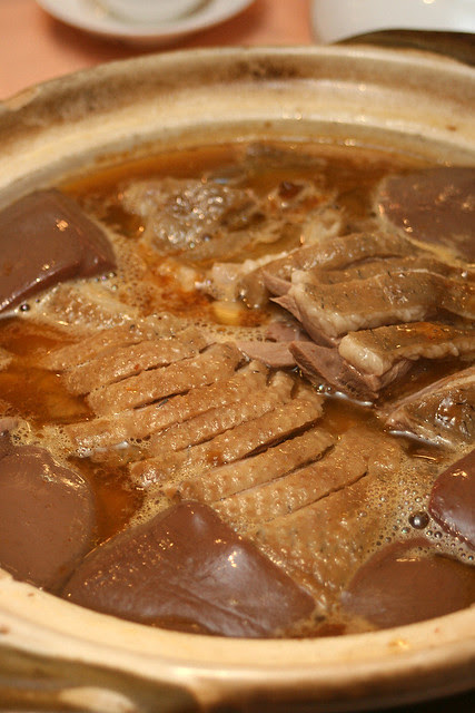 Stewed Goose with Goose Blood