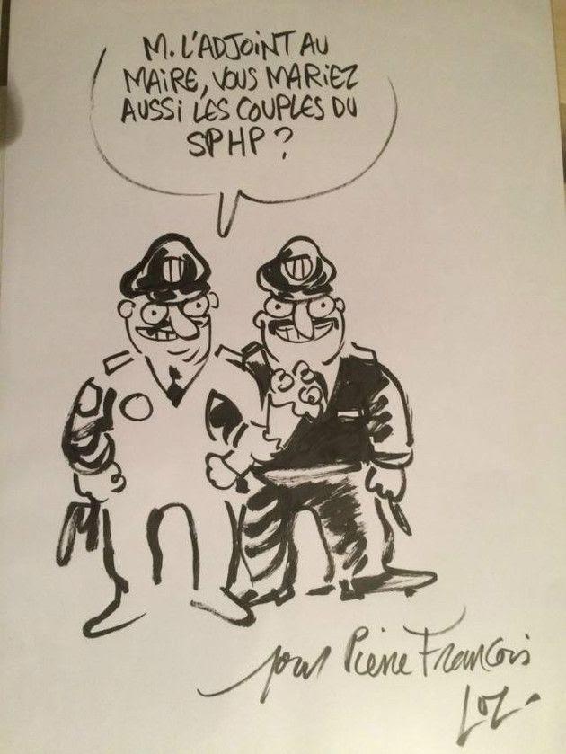 Dessin de Luz pour le policier Pierre-François Degand