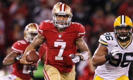 San Francisco 49ers' Colin Kaepernick vs Green Bay Packers