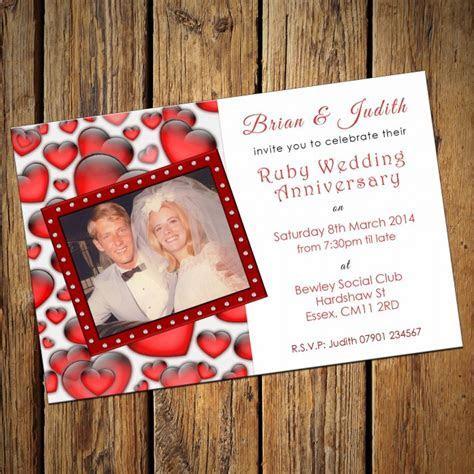 Ruby Wedding Invitation Cards