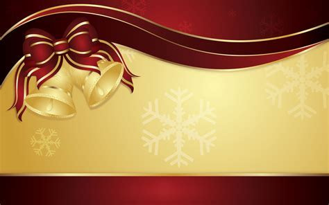 Gold Christmas Bells HD Wallpaper   Background Image