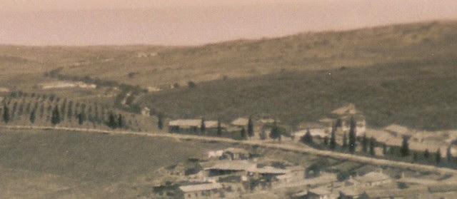 Camino de Madrid y ermita de san Antón hacia 1900