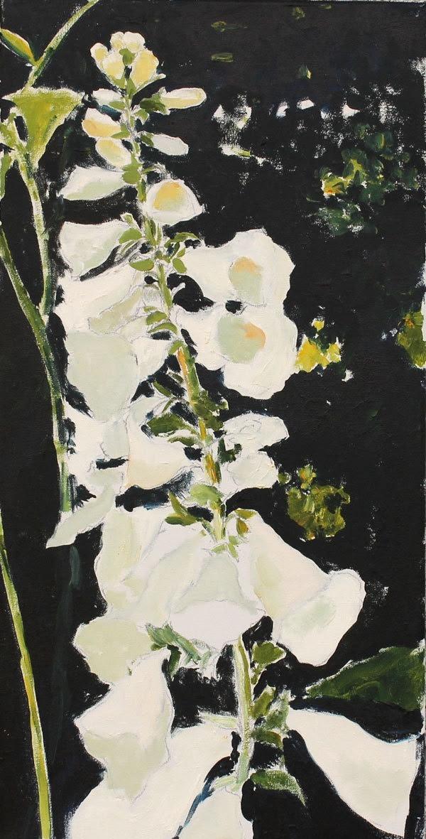 Hilda Oomen |Foxglove Painting Original Oil flower still life on by HOomen etsy.com