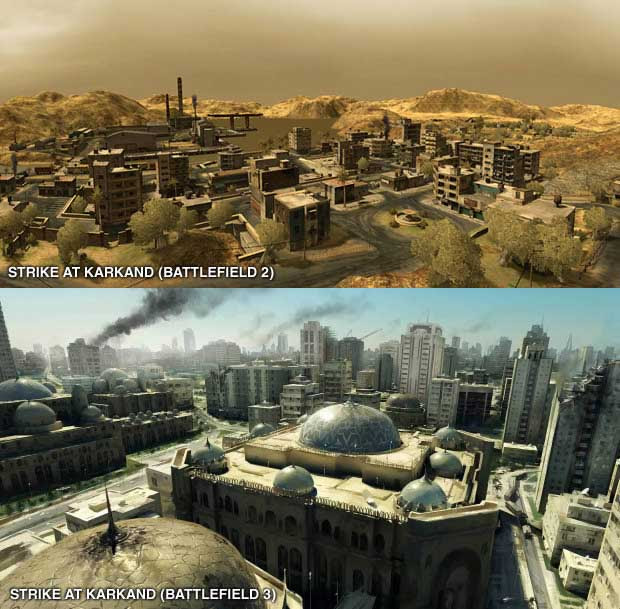 Battlefield 3 Back To Karkand Maps Comparision