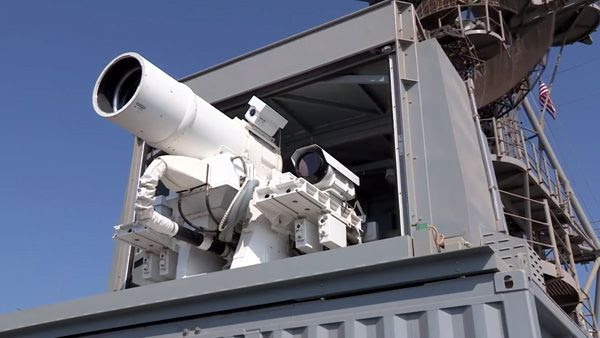 The U.S. Navy's Laser Weapon System is deployed aboard the USS Ponce in November of 2014.