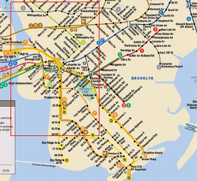 New York City Subway Map Brooklyn.Mta Subway Map Brooklyn Ny Time Zones Map