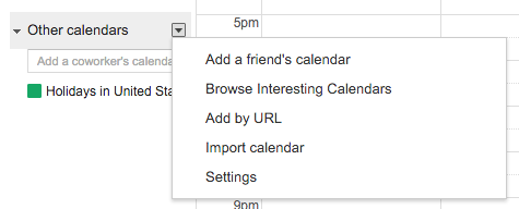 Adding College Calendars to your Google Calendar