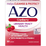 Azo Cranberry Urinary Tract Health Supplement, Caplets - 50 count