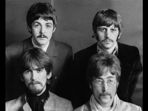 The four members of the British group the BEATLES posing together on August 2, 1967. At that time they stopped their concerts, wore the moustache and announced their separation despite their last album to come, ABBEY ROAD in 1970.