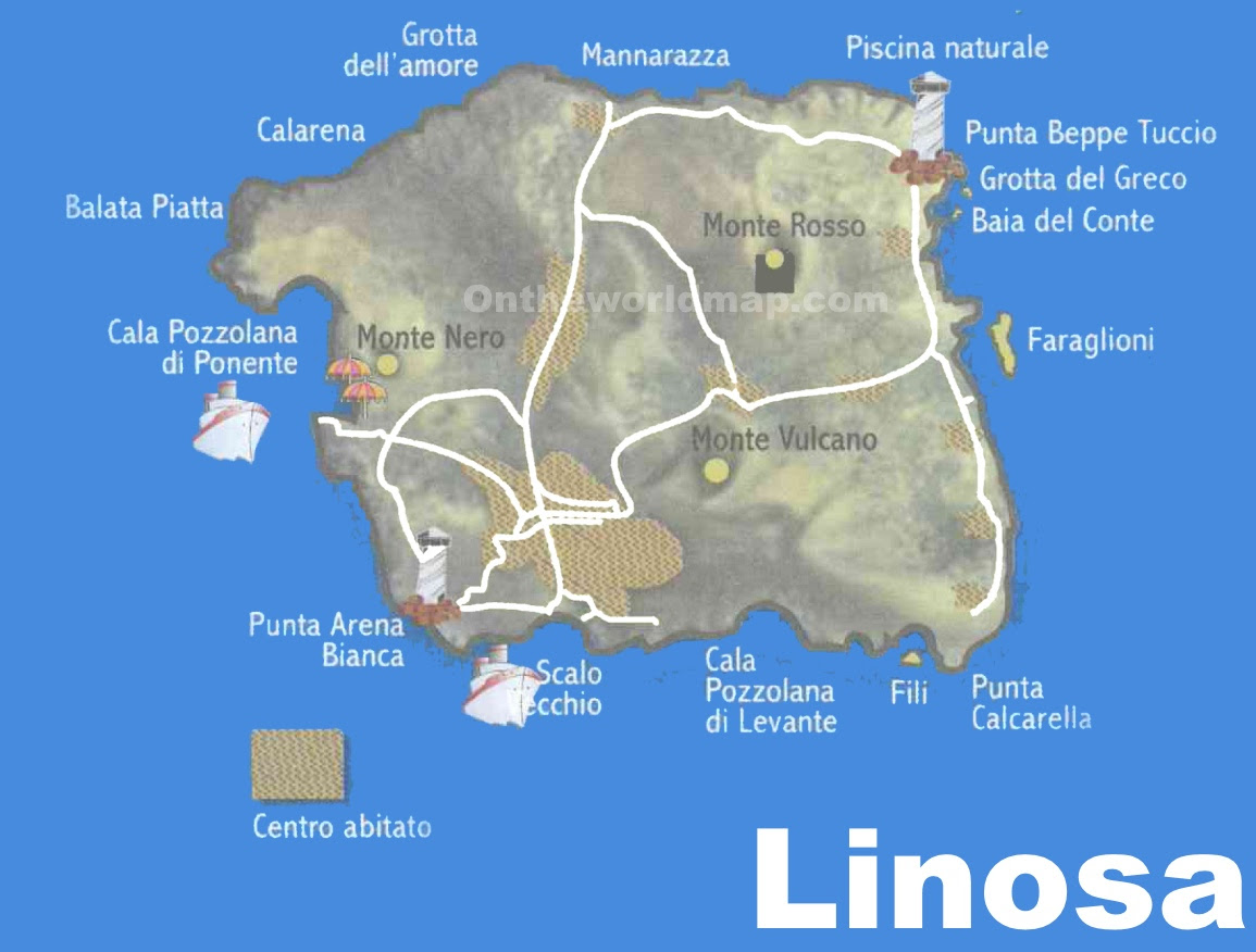 linosa tourist map