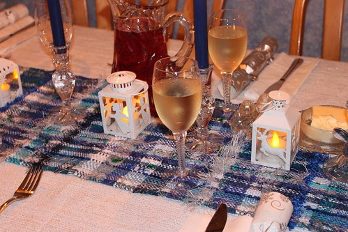 Christmas Blues table runner