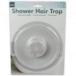 "5"" Durable Plastic Shower Drain Hair Trap - Helps Keep Drains Unclogged"
