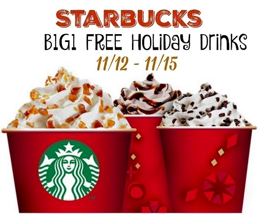 Starbucks: Buy 1 Get 1 FREE Holiday Drinks (11/12 - 11/15) | The CentsAble Shoppin