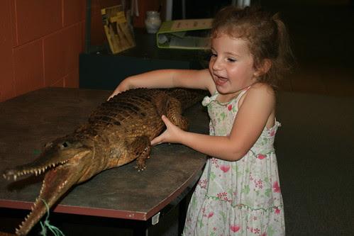 Chloe with crocodile