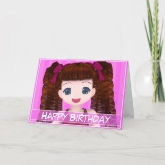 Anime Birthday Card card